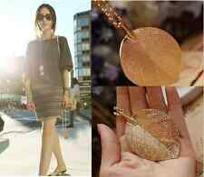 New Women Golden Fashion Jewelry Long Leaf Chain Sweater charm Pendant Necklace