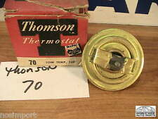 GM Buick Oldsmobile Studebaker Thompson Thermostat #70 160F Brass NORS 1933-1962