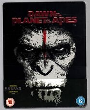DAWN OF THE PLANET OF THE APES 3D & 2D 2-DISC BLU-RAY STEELBOOK NEU & OVP HMV
