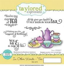 TAYLORED EXPRESSIONS IN OTHER WORDS - TEA RUBBER STAMP  (SET OF 6) TEMS77  NIP