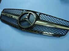 FRONT GRILLE (BLACK) ASSEMBLY SET FOR 2007-2014 MERCEDES BENZ W204 C-CLASS