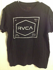 EUC MENS RVCA ARTIST NETWORK PROGRAM T SHIRT BLACK SHORT SLEEVE COTTON LARGE