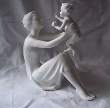 "KAISER Bisque Porcelain MOTHER & CHILD 8 3/4"" High #398 Artist BOCHMANN"