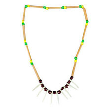 Native American Necklace Indian Caveman Tooth Halloween Adult Costume Accessory