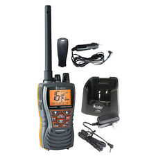 Cobra Marine Boat Floating 6W VHF Handheld Radio Black Submersible MR HH350 FLT
