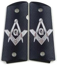 Custom Compact Officer 1911 Grips Ambidextrous Mason Emblem for Colt Sig etc