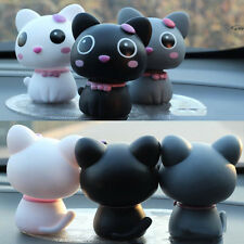 Black Interior Car Decor Cartoon Shaking Cat Car Accessory Omament Love Gift