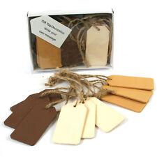 Set di 24 Brown, Cream Giallo Rustico in legno regalo etichette MATRIMONIO NATALE