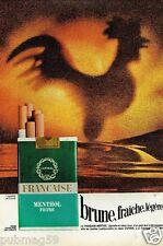 Publicité advertising 1972 Cigarettes Francaise Menthol Filtre