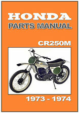 HONDA Parts Manual CR250 CR250M 1973 & 1974 Replacement Spares Catalog List