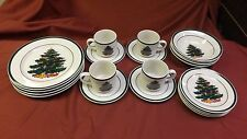 set of 4-5 piece place setting christmas tree dinnerware totally today 20 pcs #3