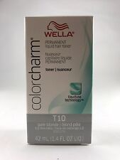 Wella Color Charm Permanent Hair Toner - T10 - Pale Blonde + Free Shipping
