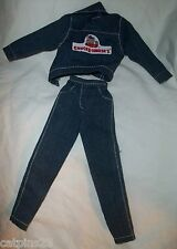 BARBIE DOLL CHUCK E CHEESE JACKET Denim JEANS Pants Lot Clothing Outfit EUC