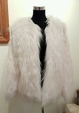 NEW The Vintage Boutique Faux Fur Shaggy Jacket UK size 12 / M