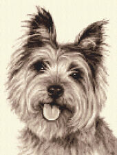 CAIRN TERRIER dog, puppy,  complete counted cross stitch kit
