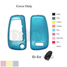 Paint Metallic Color Shell Cover Holder fit for AUDI Flip Remote Key Case Fob BL