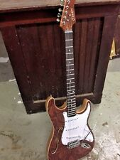 CUSTOM NEW EXOTIC WOOD TOP SEMI HOLLOW STRAT STYLE ELECTRIC GUITAR