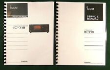 Icom IC-718 Instruction & Service Manuals: Card Stock Covers & 32 Lb Paper!