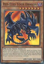 YU-GI-OH CARD: RED-EYES TOON DRAGON - SUPER RARE - SHVI-EN036
