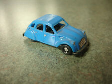 Collectible Blue Plastic Citroen 2CV Toy Car Made In W. Germany
