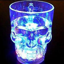 Water Inductive LED Glowing Cup Skull Shape Wine Beer Mug for Party Pub