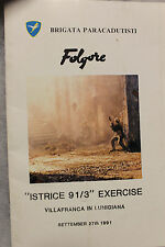 Original Italian - U.S. Army Paratrooper Exercise Booklet from 1991