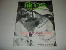 FILMS AND FILMING magazine February 1974 Andy Warhol DRACULA Dallesandro KIER