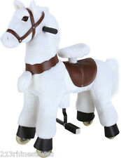 SMALL 'Giddy Up Ride' Horse/Pony Ride On  'WHITE'  Ages 2-5 Boys & Girl (01C)