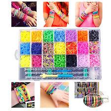 4400 DIY Colorful Rainbow Rubber Loom Bands Bracelet Making Kit Set