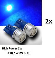 2 ampoule LED HIGH POWER 1W W5W T10 BLEU MOTO HARLEY-DAVIDSON STREET GLIDE