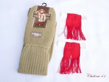 BOY SCOUT UNIFORM WOLF KNEE SOCK GARTERS & RED TASSEL 1 PAIR VINTAGE  FREE SIZE