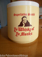 YE WHISKY OF YE MONKS SUPERLATIVE SCOTCH VINTAGE ICE BUCKET SECCHIO GHIACCIO OLD