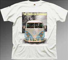 ENDLESS SUMMER VW CAMPERVAN SURF SURFING HAWAII white cotton t-shirt 9902