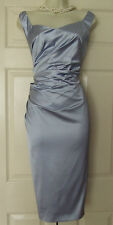 COAST ZARIYA PALE BLUE DUCHESS SATIN PARTY DRESS SIZE 16 BNWT £139