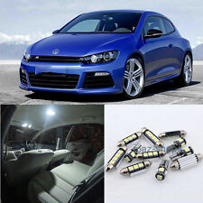 Error Free White 10x Lights SMD LED Interior light package For VW Scirocco 3R #E