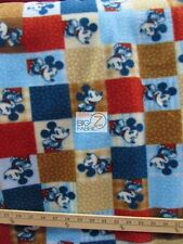 """RETRO MICKEY MOUSE DISNEY FLEECE PRINT FABRIC 60"""" WIDTH SOLD BY THE YARD 827"""