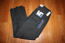 NWT Mens IZOD Gray No Iron Flat Front Straight Leg Dress Pants Slacks 42 W 34 L