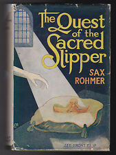 Sax Rohmer - Quest of the Sacred Slipper - A L Burt c1936 in Scarce Dustjacket