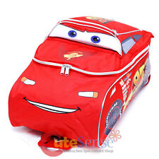 "Disney Cars Mcqueen Large School Backpack 3D Shape 16"" Boys Book Bag"