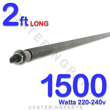 "HE2415 24""/  2 FT LONG 1500w 1.5kw STRAIGHT ROD TYPE 8mm DRY/WET HEATING ELEMENT"
