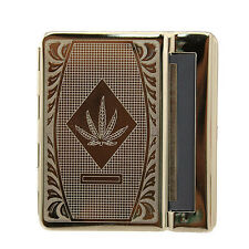 Tobacco Cigerette Rolling Machine, Cannabis Leaf Design, smoker smoking ciggaret