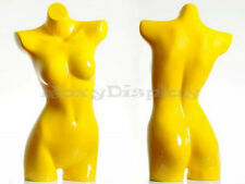 Fiberglass Female Mannequin Manikin Dress Form Display Torso Half Body BL2YELLOW