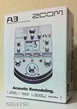 NEW Zoom A3 Acoustic Guitar Preamp and Effects Processor JAPAN FREE SHIP