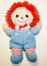 """Raggedy Andy Cloth Rag Doll 10"""" Light Blue outfit Plush Lovey"""