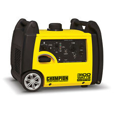 Portable Champion Generator Gas Inverter 3100 Watt RV Outlet and Wheel Kit