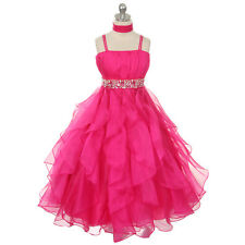 Girl Dresses Pageant Princess Wedding Birthday Party Ball Gown Prom Pick Up