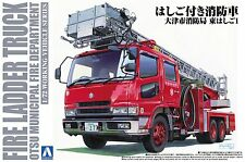 Aoshima 12079 1/72 Working Vehicle Series No.2 Fire Ladder Truck from Japan