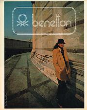 PUBLICITE ADVERTISING 104  1980  BENETTON  pret à porter caba veste femme