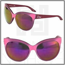 CHRISTIAN DIOR PANAME Cat Eye Pink Purple Mirrored Optyl Sunglasses Oversized