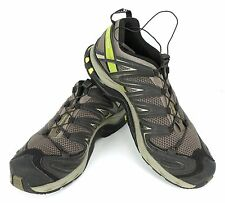 Mens 12 m Salomon XA Pro 3D Trail Running Hiking Athletic Shoes Black Green